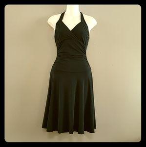 Little black dress halter style